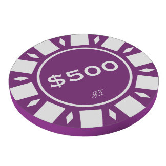 Home Tournament Poker Chips Purple 500 Your Brand