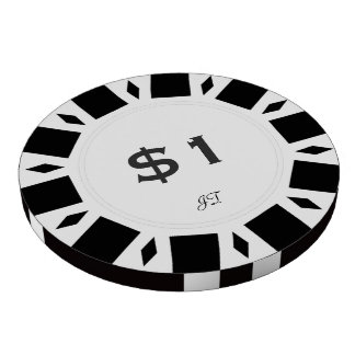 Home Tournament Poker Chips White 1 w Your Brand
