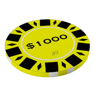 Home Tournament Poker Yellow 1000 w Your Brand Poker Chips