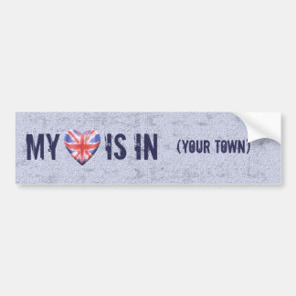 Home Town Heart Bumper Sticker
