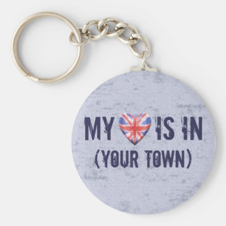 Home Town Heart Key Ring