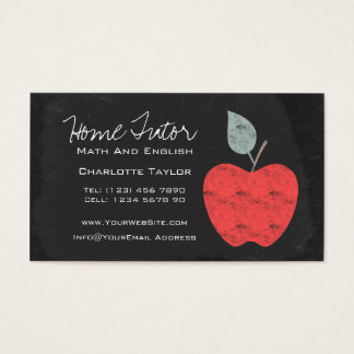 Home Tutor Teacher Apple Chalkboard