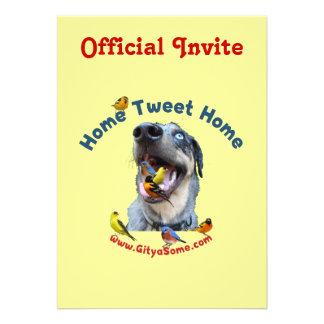 Home Tweet Home Bird Dog Custom Invitations