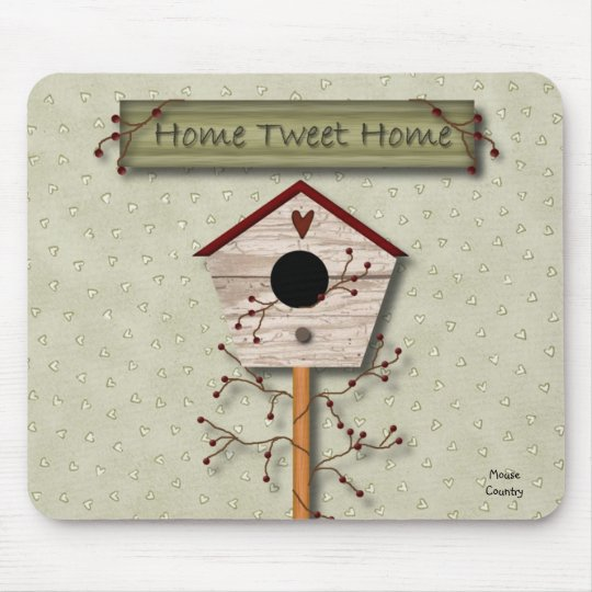 Home Tweet Home Mousepad
