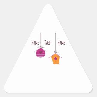 Home Tweet Home Triangle Sticker