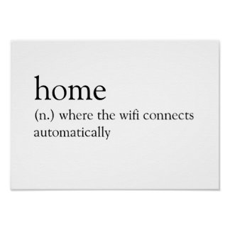 Home: Where the wifi connects automatically Poster