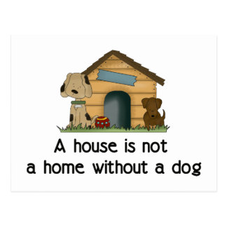 Home With A Dog Postcard