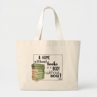 Home without Books = Body without soul Canvas Bags