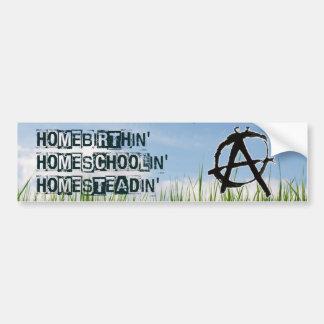 Homebirthin Homeschoolin Homesteadin Bumper Sticker