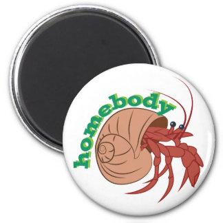 Homebody Crab 6 Cm Round Magnet