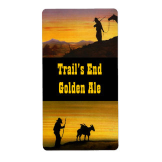 Homebrew labels Western Trails End Golden Ale