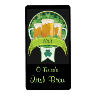Homebrewed Irish Beer Label