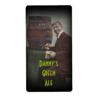 Homebrewing Beer Bottle Label Danny's Green Ale Shipping Label