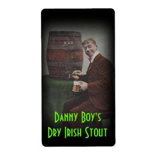 Homebrewing Beer Label Danny Boy's Irish Stout Shipping Label
