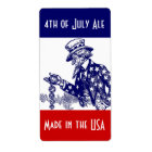 Homebrewing Beer Labels for 4th of July Uncle Sam