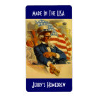Homebrewing Beer Labels Uncle Sam Made in the USA