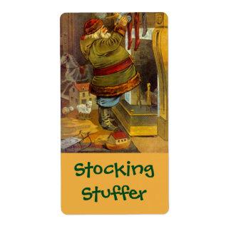 Homebrewing Busy Santa Stocking Stuffer Labels
