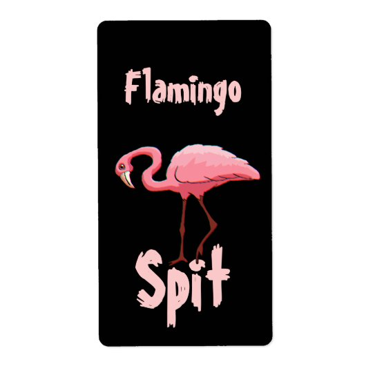 Homebrewing Flamingo Spit Beer Wine Fun Labels