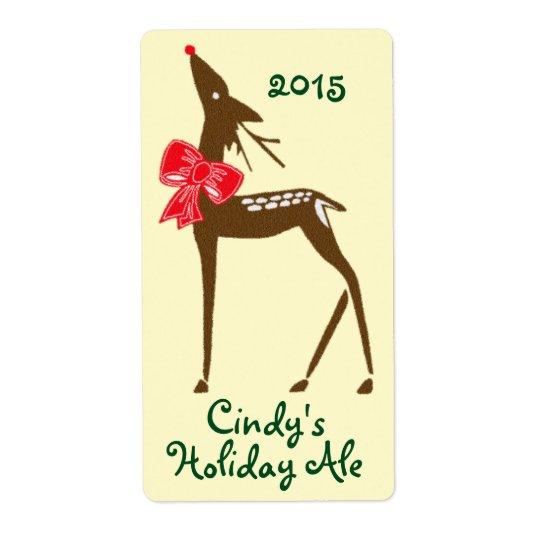 Homebrewing Labels Beer Deer Reindeer Holiday