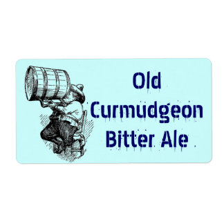 Homebrewing Supplies Beer Brew Curmudgeon Bitters Shipping Label