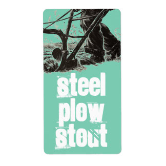 Homebrewing Supplies Beer Brewing Steel Plow Label Shipping Label