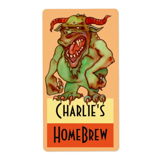Homebrewing Supplies Beer Fun Party Monster Label Shipping
