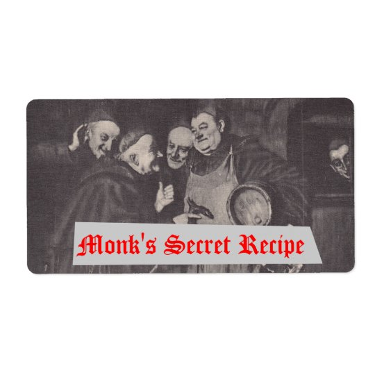 Homebrewing Supplies Beer Label Monks' Secret Brew
