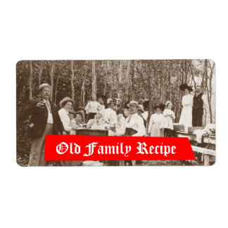 Homebrewing Supplies Beer Label Old Family Recipe
