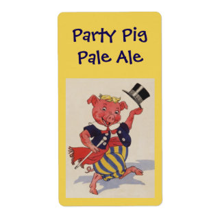 Homebrewing Supplies Beer Party Pig Pale Ale Label Shipping Label