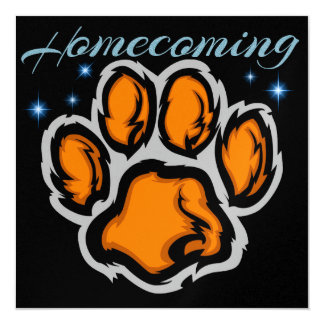 Homecoming Football Party 13 Cm X 13 Cm Square Invitation Card