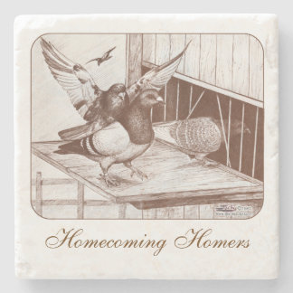 Homecoming Homers Stone Beverage Coaster