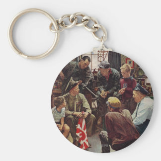 Homecoming Marine Basic Round Button Key Ring