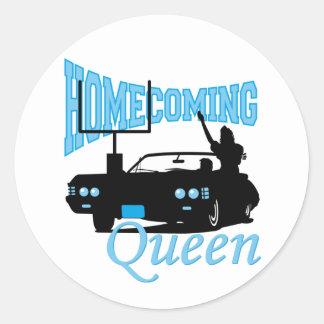 Homecoming Queen Round Sticker