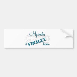 Homecoming sticker: sailor bumper sticker