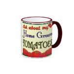 Homegrown Tomato Garden Slogan Mugs