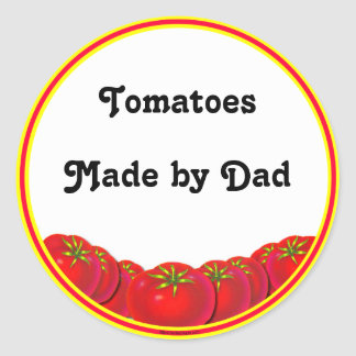 Homegrown Tomatoes Custom Canning Labels Round Sticker