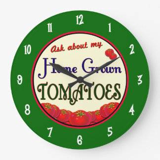Homegrown Tomatoes Gardener Wall Clock