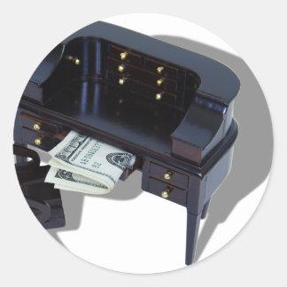 HomeInvestments042509shadow Round Sticker