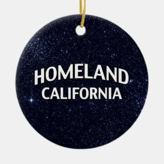 Homeland California Christmas Ornament