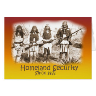 Homeland Security Apache Greeting Card