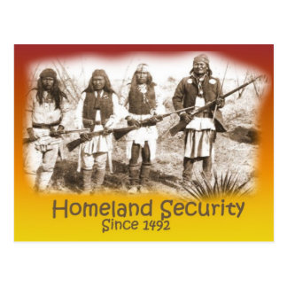 Homeland Security Apache Postcard