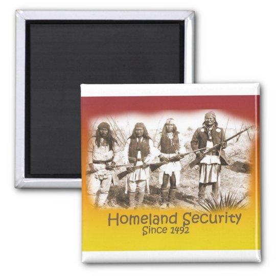 Homeland Security Apache Square Magnet