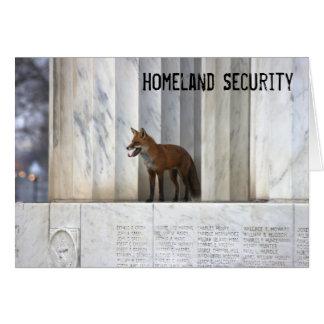 Homeland Security Greeting Card