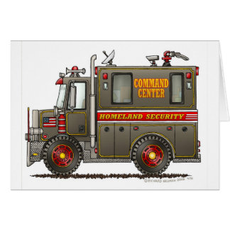 Homeland Security Command Truck Greeting Card