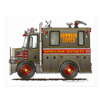 Homeland Security Command Truck Postcard