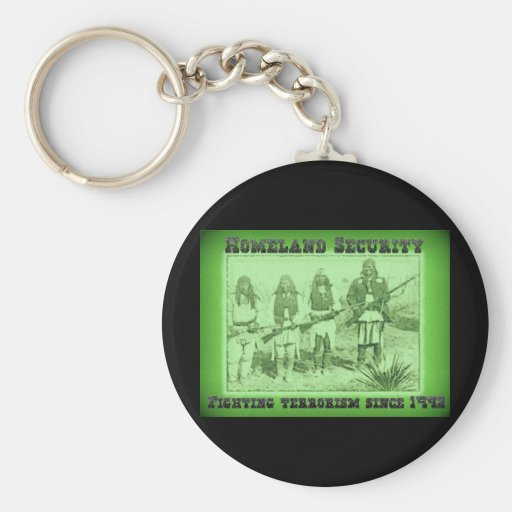 Homeland Security Fighting Terrorism Since 1492 Key Chains
