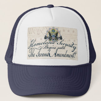 Homeland Security Gun-Toting Eagle Gear Trucker Hat
