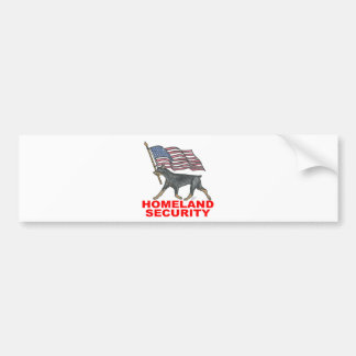 HOMELAND SECURITY HLSDP BUMPER STICKER