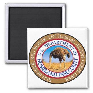 Homeland security magnet. magnet