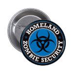 Homeland Zombie Security - Blue B 6 Cm Round Badge